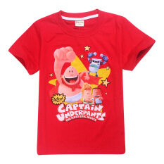 ขาย Captain Boys 3 15 Yrs 100 155Cm Body Height Cotton T Shirts Color Red Kisnow ใน จีน