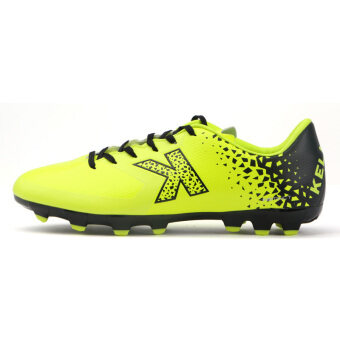 Carl us K99 men New style non-slip artificial turf training shoes football shoes (Flourescent yellow)
