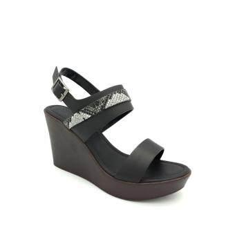 Carlo Rino 333000-173-08 Sandal Wedges Platform (Black)