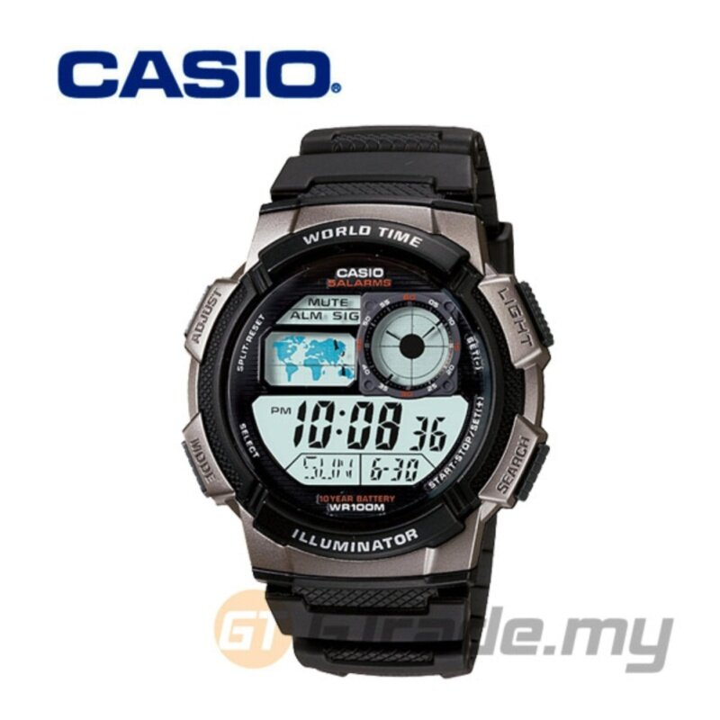 Casio AE-1000W-1BV Digital Watch Black Malaysia