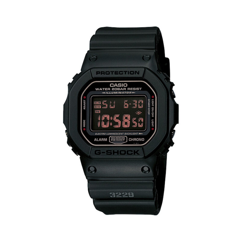 Casio G-Shock Mens Black Resin Strap Watch DW-5600MS-1 Malaysia