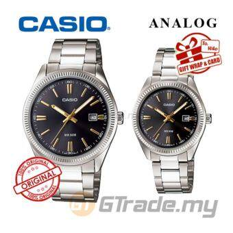 Harga Casio Standard Couple Stainless Steel Band Watch MTP-1302D-1A2V and LTP-1302D-1A2V