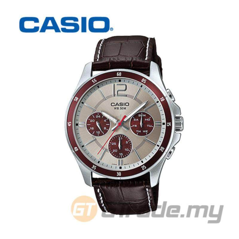 CASIO STANDARD MTP-1374L-7A1V Analog Mens Watch - Date Day Display Malaysia