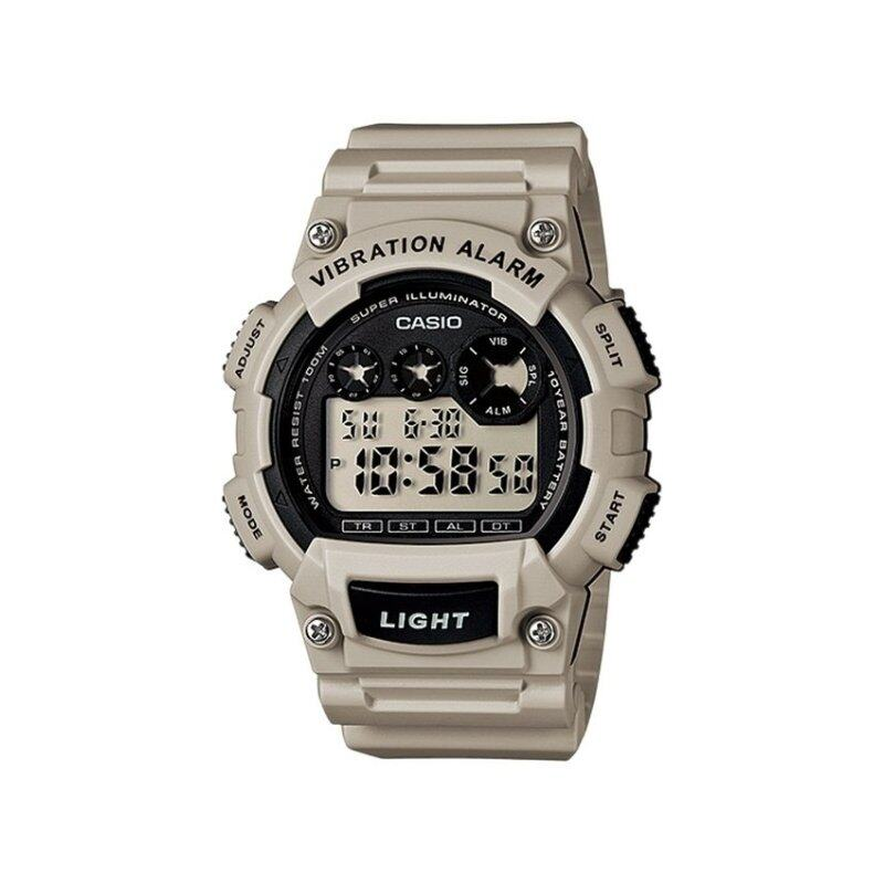 Casio W-735H-8A2V 10-Years Battery Timer LED Resin Watch Ashgrey Malaysia