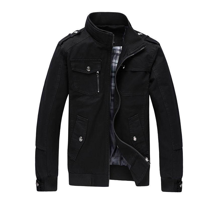 Casual Men's Jacket Spring Army Military Jacket Men Coats Winter Male Outerwear Autumn Overcoat - intl