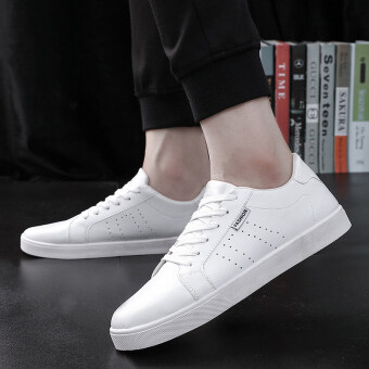 Harga Casual White Summer breathable men shoes trendy shoes (White)