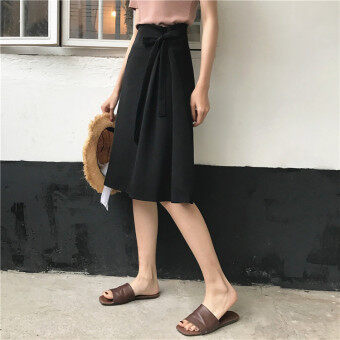 Chic style Hong Kong flavor long section straps a word skirthalf-length skirt