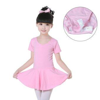 Harga Children dance clothes cotton ballet dress(Pink)