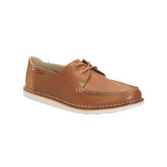 Harga Clarks Brinton Edge Mens Casual Slip Ons (Tan Leather)