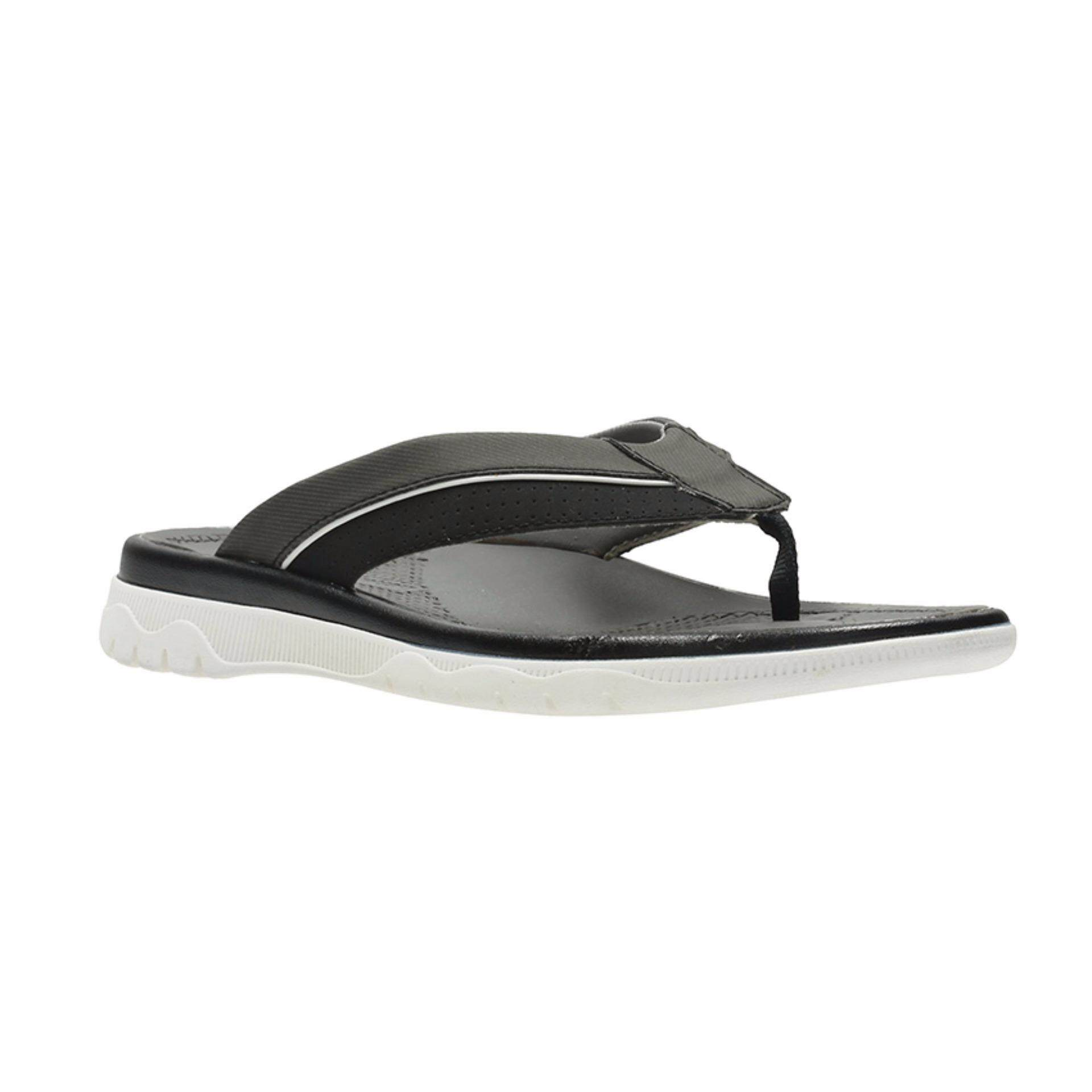 02272833dbb Clarks Cloudsteppers Balta Sun Mens Sandals (Black Synthetic)