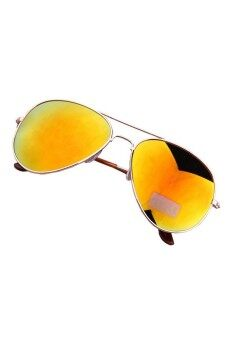 Classic Aviator Unisex Mirrored Lens Gold