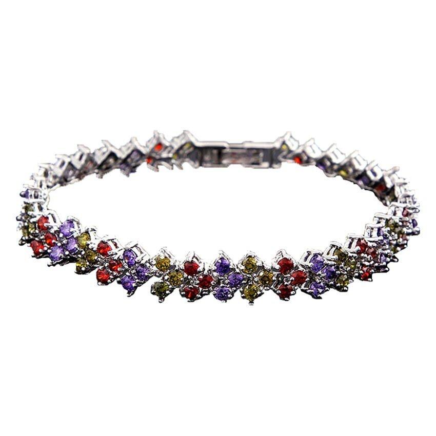 Classic CZ Zirconia Bracelet - Multicolor