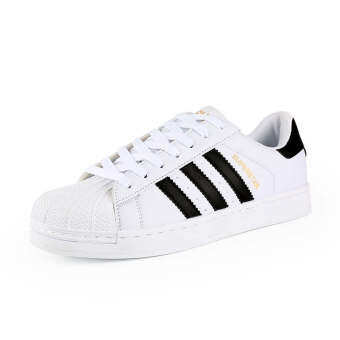 Harga Classic Inspired addidas Superstar Sneakers Canvas Shoes White-Black