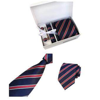 Classic Men Tie Hanky Cufflinks Set Men's Formal Neckwear for Business Wedding Party Colour:K02