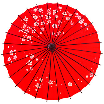 Classical red water resistant sun-blocking dance umbrella oil paper parasol (Red) (Red)