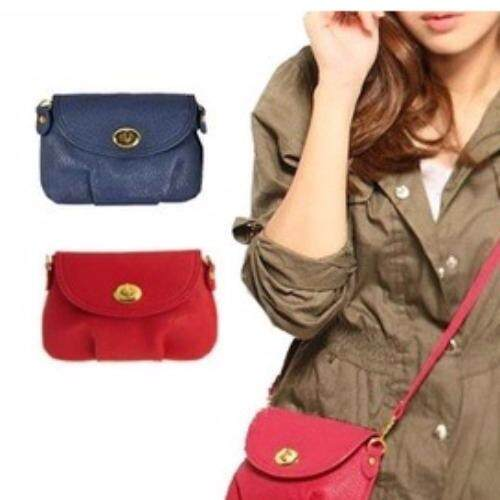Clearance Sale Below Cost - BLUE LEATHER SATCHEL SHOULDER BAG -5 Colors + Free shipping