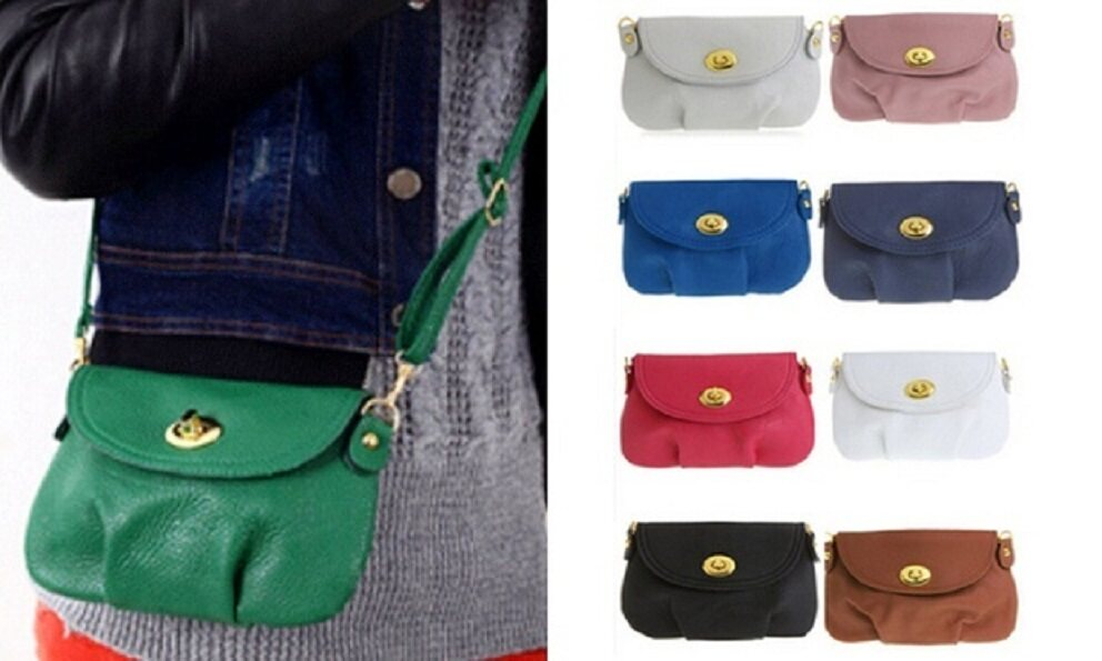 Clearance Sale Below Cost - BLACK LEATHER SATCHEL SHOULDER BAG -5 Colors + Free shipping