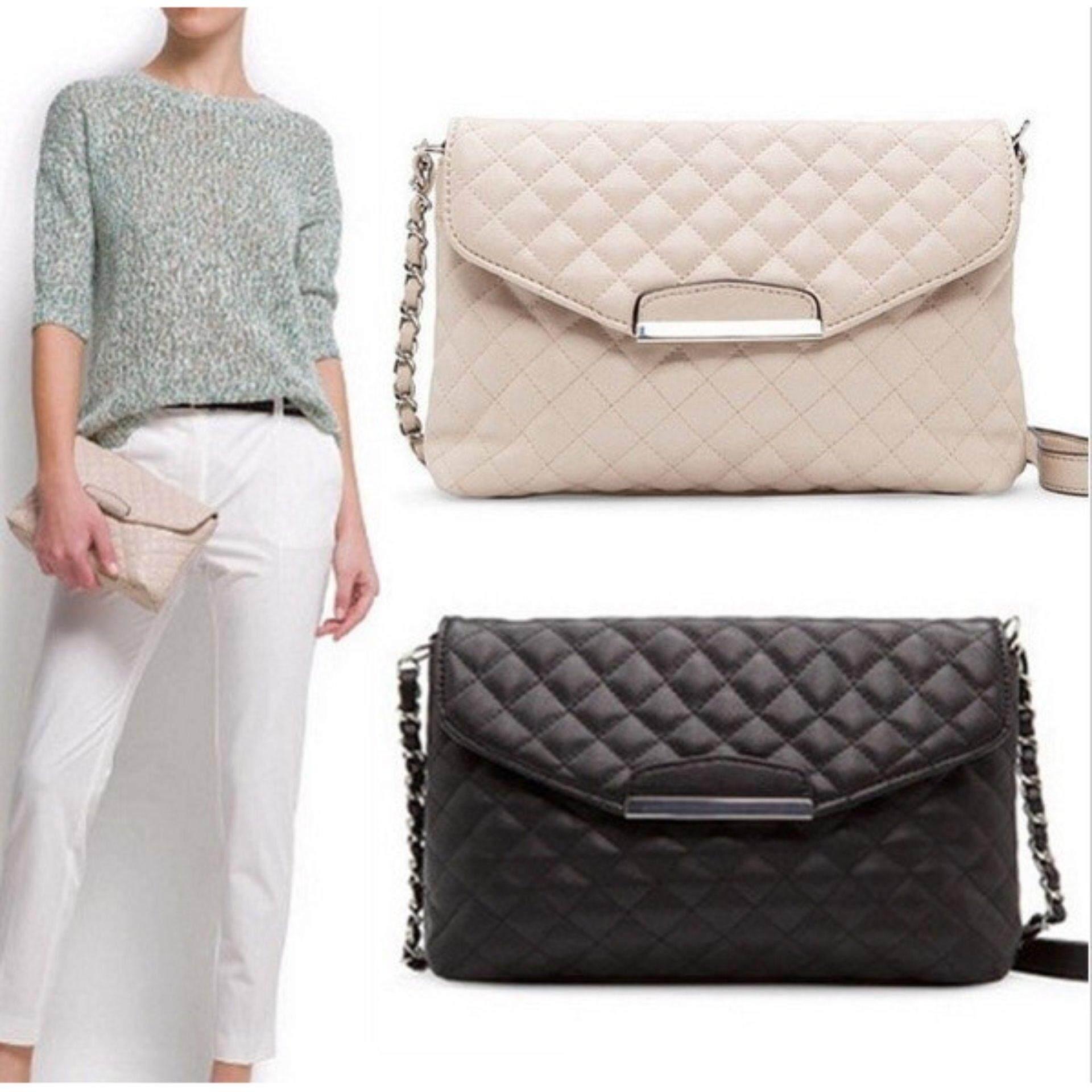 Clearance Sale Below Cost - Mango Cross Messenger Leather handbag- White - FREE SHIPPING