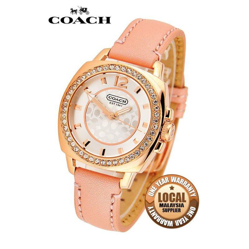 Coach 14501753 Leather Strap Watch (Pink) Malaysia
