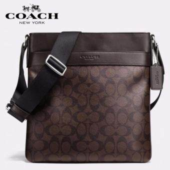 2cad9c3bd4 ... cheapest coach f71877 mens bowery signature crossbody bag brown c7187  60dde