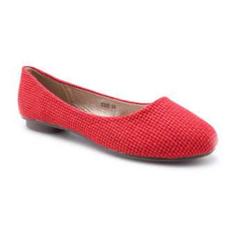 Harga COMO G005 Women Flats Red