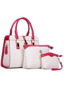 COMO Tote Bags Set of 3- White