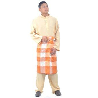 Cotton & Silk - Baju Melayu Crepe - G2 (Coffee)