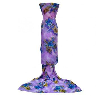 Cotton & Silk Fabric Kain Ela Meter Baju Kurung Chiffon Matching Valentino Crepe 503e