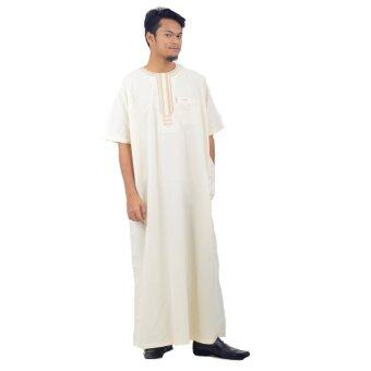 Harga Cotton & Silk - Mens Jubah - Jubah Cotton Al-A'lim D2 - A2(Cream)