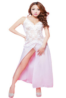 CP Mall 7057 Sexy Women Nightdress Babydoll Lingerie Underwear Sleepwear White