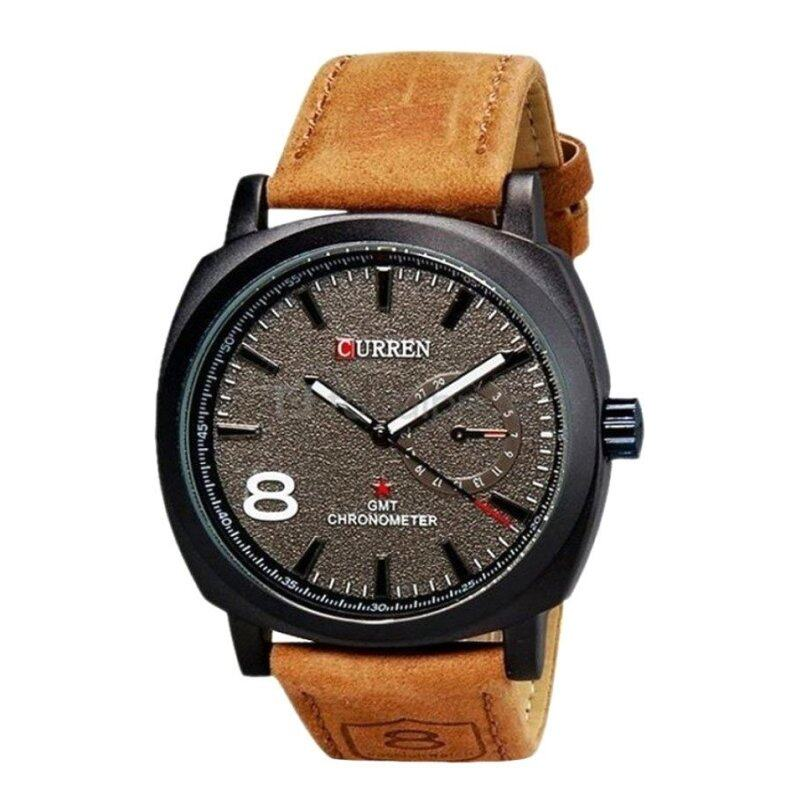 Curren 8139 Mens Brown Leather Strap Watch Malaysia