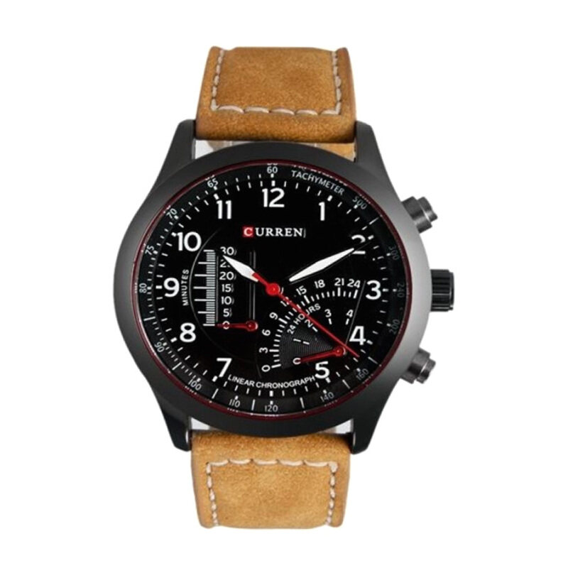 Curren Mens Brown Leather Strap Watch 8152 Malaysia