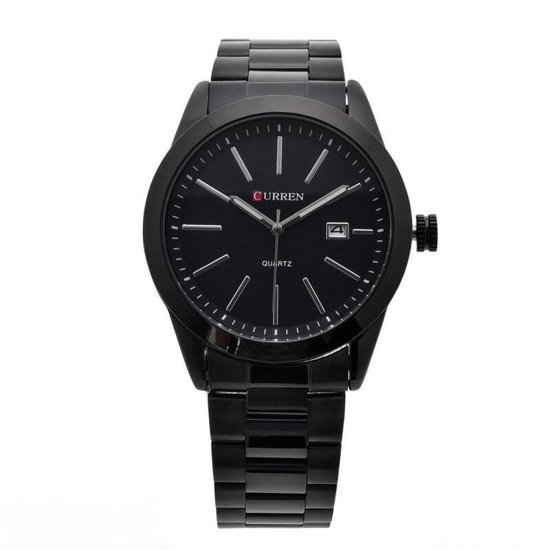 CURREN Mens Stainless Steel Strap Watch (Black) Malaysia