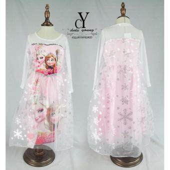 Harga CY-8051 DISNEY FROZEN ANNA ELSA PRINCESS DRESS [PINK]