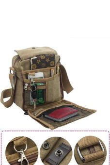 Cyber Men Messenger Bags Canvas Vintage Bag Men Shoulder Crossbody Bags Outdoor Travel Bag(Brown)