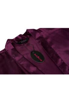 Cyber Sexy Woman Silk Strappy Sleepwear Long Bath Robes Night Gown Pajamas - 5