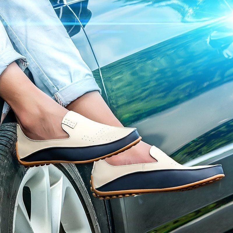 ... Danji 36-47 Ukuran Pria Bisnis Kulit Sepatu Pernikahan Resmi-Putih  (Lubang Permukaan ... 2b77069478