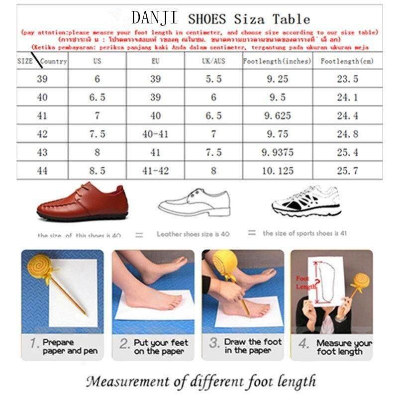 Danji Pria Sepatu Kasual Tinggi Dipotong Sneakers 39-46 Merah-Intl - 3