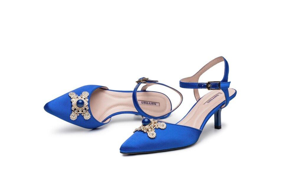 Diamond Buckle Blue Sandals