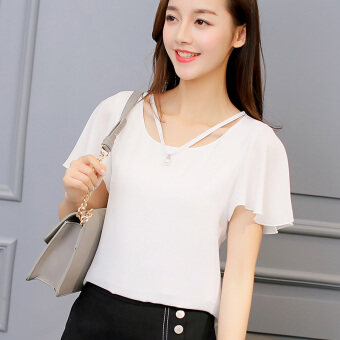 Harga Diana Korean-style pure color spring and summer bottoming shirt