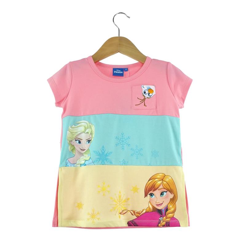 Disney Princess Frozen Kids T-Shirt 100% Cotton 3yrs to 12yrs - Multicolour