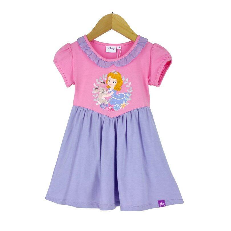 disney princess sofia kids dress 100 cotton 1yrs to 8yrs pink and