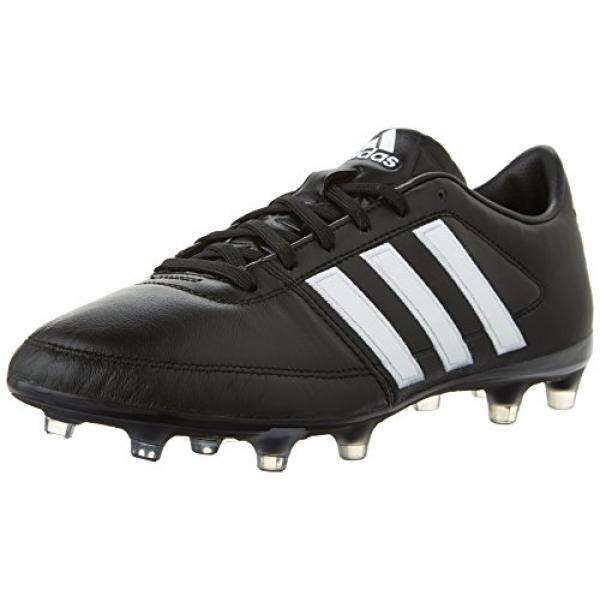 [DNKR]adidas Performance Mens Gloro 16.1 FG Soccer Cleat, Black/White/Metallic Silver, 9 M US - intl
