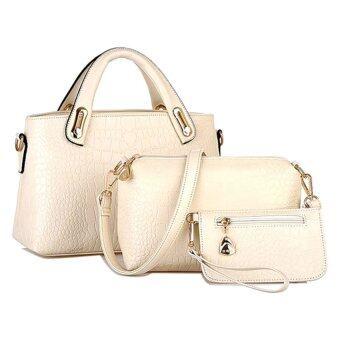 Elegant Faux Crocodile Leather Bags (Set of 3)