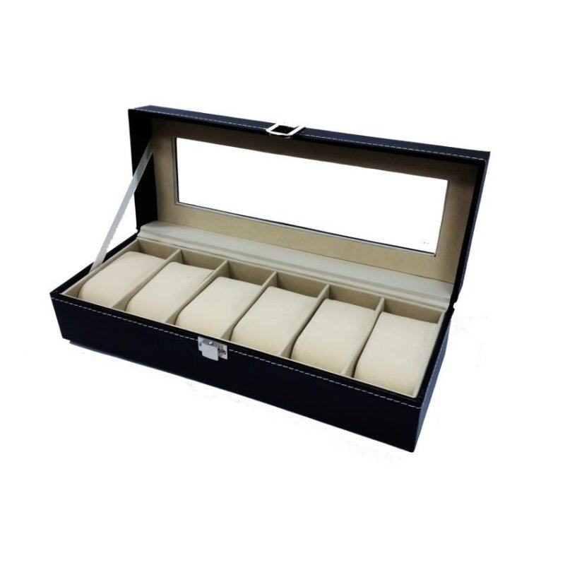 Elegant Premium 6 Slot PU Leather Watch Box For Collection Malaysia