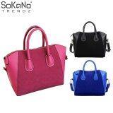 (RAYA 2019) Elegant Top Handle Suede Leather Handbag Pink