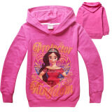 Elena Of Avalor Girls 4 12 Years Old Cotton Soft Thin Hoodies Coats Color Rose Red เป็นต้นฉบับ