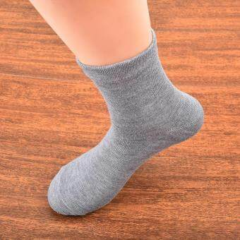 ELENXS Ladies Casual Cotton Sport Women Girls Candy Colored Cute Socks Middle Tude Socks Gray(Intl)