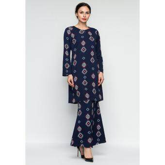 ERA MAYA Eastern Geo Baju Kurung Traditional (Dark Blue)