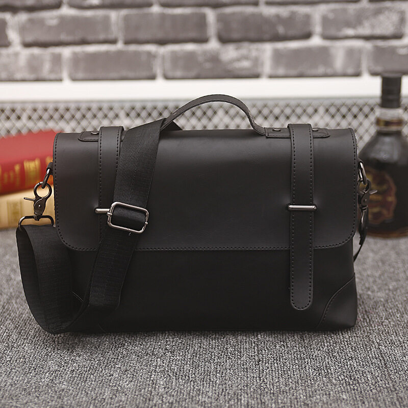 Spesifikasi Essentials For Men Genuine Leather Retro Handbag Briefcase Messenger Shoulder Bag Business Briefcase Crossbody Bags Men S Travel Casual Intl Murah